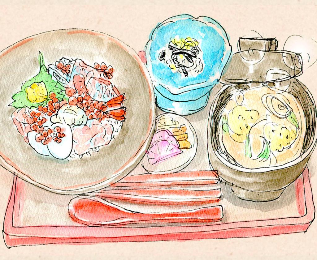 海鮮はらこ丼